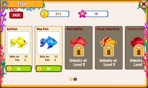 Capturas de pantalla de Fish adventure: Seasons para tabletas y teléfonos Android.