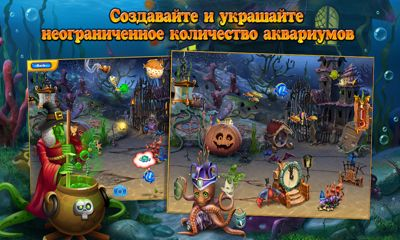 Screenshots of the Fishdom Spooky HD for Android tablet, phone.