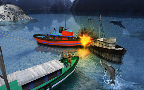 Screenshots von Fishing boat driving simulator 2017: Ship games für Android-Tablet, Smartphone.