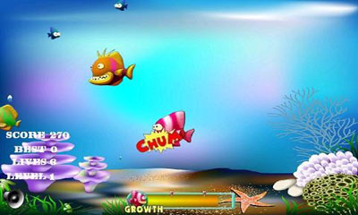Screenshots of the Fishing Game for Android tablet, phone.