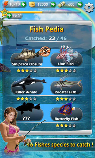 Screenshots do Fishing mania 3D - Perigoso para tablet e celular Android.