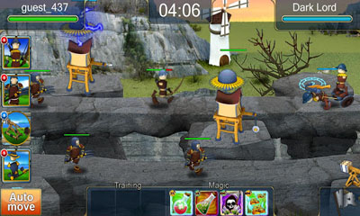 Screenshots of the Five Towers for Android tablet, phone.