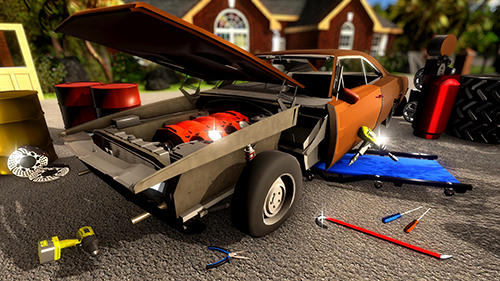 Screenshots von Fix my car: Classic muscle car restoration für Android-Tablet, Smartphone.