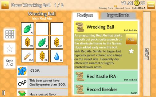 Screenshots von Fiz: Brewery management game für Android-Tablet, Smartphone.