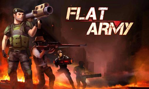 Flat army poster