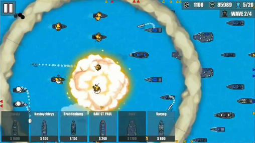 Screenshots do Fleet combat 2: Shattered oceans - Perigoso para tablet e celular Android.