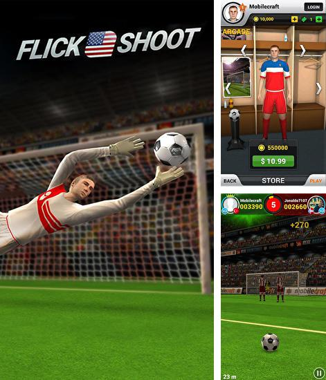 Zusätzlich zum Spiel Fußball Freistöße für Android-Telefone und Tablets können Sie auch kostenlos Flick shoot US: Multiplayer, Flick Shoot US: Multiplayer herunterladen.