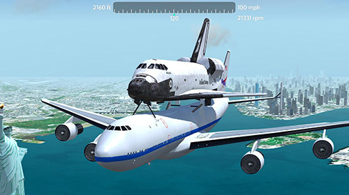 安卓平板、手机Flight simulator 2018 flywings截图。