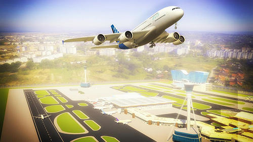Screenshots von Flight simulator 3D: Airplane pilot für Android-Tablet, Smartphone.