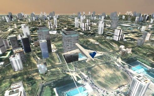 Screenshots von Flight simulator: City plane für Android-Tablet, Smartphone.