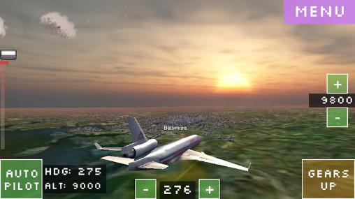 Kostenloses Android-Game Simulator eines Flugs durch die Welt. Vollversion der Android-apk-App Hirschjäger: Die Flight world simulator für Tablets und Telefone.