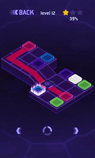 Screenshots von Flow dots: Cyber lines 3D für Android-Tablet, Smartphone.
