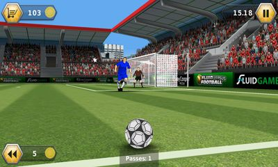 Screenshots do Fluid Football Versus - Perigoso para tablet e celular Android.