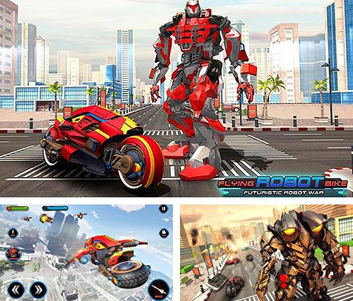 Flying robot bike: Futuristic robot war