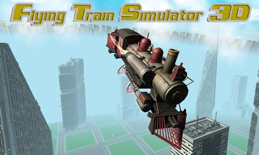 Flying train simulator 3D poster