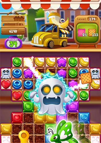 Jogue Food pop: New puzzle gravity world. Food burst 2 para Android. Jogo Food pop: New puzzle gravity world. Food burst 2 para download gratuito.