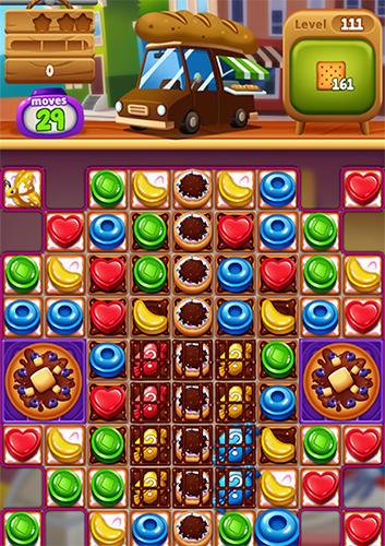 Screenshots do Food pop: New puzzle gravity world. Food burst 2 - Perigoso para tablet e celular Android.