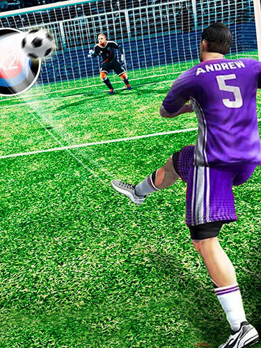 Screenshots von Football: Free kick hero 2019 für Android-Tablet, Smartphone.