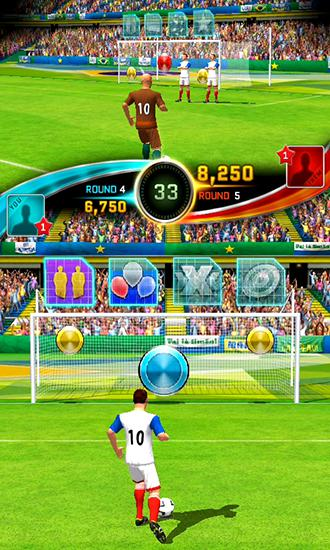 Jogue Football kicks frenzy para Android. Jogo Football kicks frenzy para download gratuito.