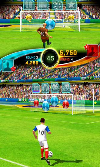 Screenshots do Football kicks frenzy - Perigoso para tablet e celular Android.