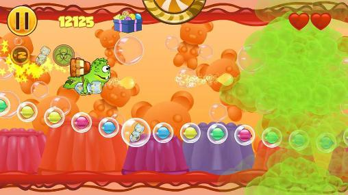 Download Frog candys: Yum-yum Android free game.