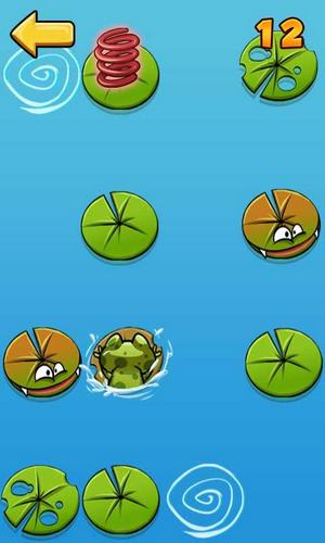 Screenshots von Don't tap the wrong leaf. Frog jump für Android-Tablet, Smartphone.