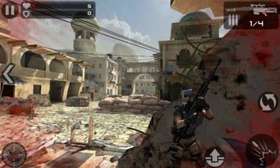 Screenshots of the Frontline Commando for Android tablet, phone.