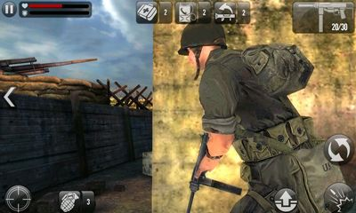 Screenshots do Frontline Commando D-Day - Perigoso para tablet e celular Android.