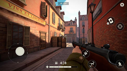 Screenshots von Frontline guard: WW2 online shooter für Android-Tablet, Smartphone.