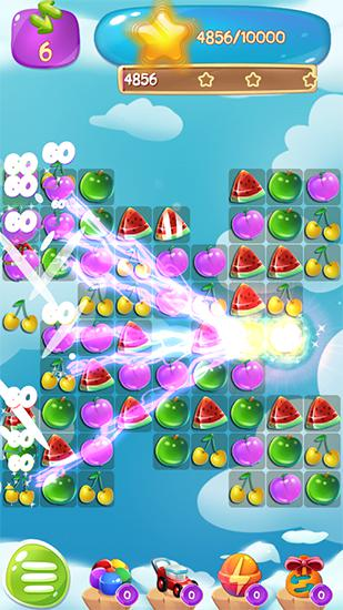 Kostenloses Android-Game Fruit Jam Splash: Süßes Match. Vollversion der Android-apk-App Hirschjäger: Die Fruit jam splash: Candy match für Tablets und Telefone.