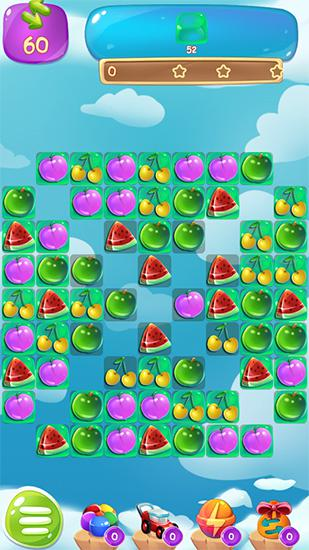 Screenshots von Fruit jam splash: Candy match für Android-Tablet, Smartphone.