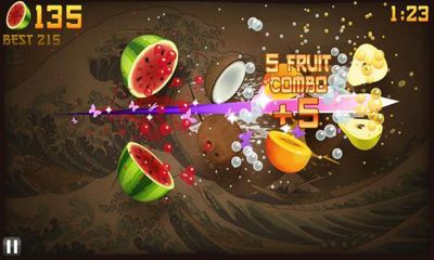 Screenshots von Fruit Ninja für Android-Tablet, Smartphone.