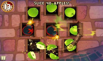 Screenshots von Fruit Ninja Puss in Boots für Android-Tablet, Smartphone.