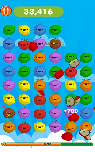 Screenshots of the Fruit pop! for Android tablet, phone.