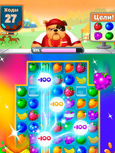 Fruit shake: Candy adventure match 3 game картинка из игры 3