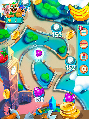 Screenshots von Fruit shake: Candy adventure match 3 game für Android-Tablet, Smartphone.