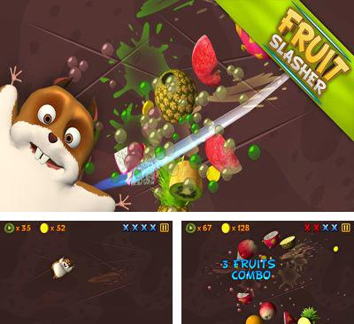 In addition to the game Fruit Ninja vs Skittles for Android phones and tablets, you can also download Fruit Slasher 3D for free.