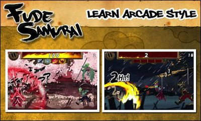 Screenshots of the Fude Samurai for Android tablet, phone.