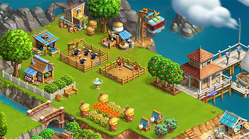Screenshots of the Funky bay: Farm and adventure game for Android tablet, phone.