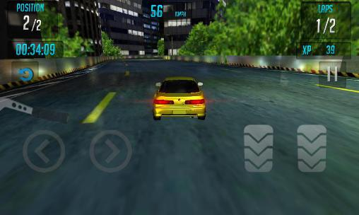 Capturas de pantalla de Car racing 3D: High on fuel para tabletas y teléfonos Android.