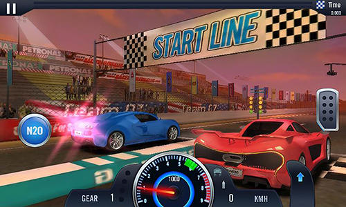 Screenshots von Furious car racing für Android-Tablet, Smartphone.