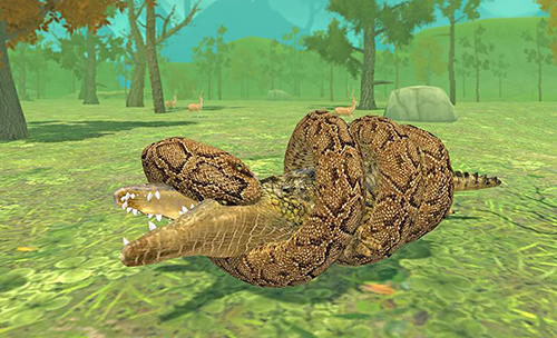 Kostenloses Android-Game Wildes Krokodil Simulator. Vollversion der Android-apk-App Hirschjäger: Die Furious crocodile simulator für Tablets und Telefone.