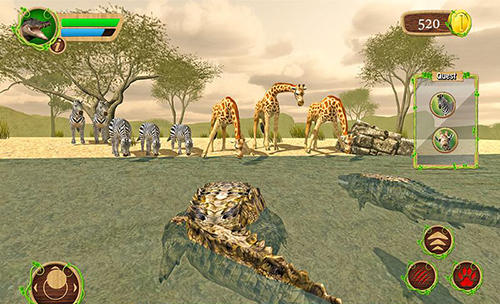 Screenshots von Furious crocodile simulator für Android-Tablet, Smartphone.