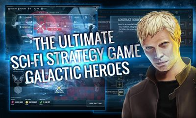 Screenshots of the Galactic Heroes for Android tablet, phone.