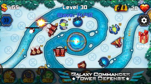 Juega a Galaxy commander: Tower defense para Android. Descarga gratuita del juego Comandante galáctico: Defensa de la torre.
