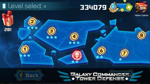 Capturas de pantalla de Galaxy commander: Tower defense para tabletas y teléfonos Android.