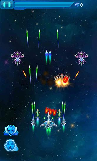 Galaxy fighters: Fighters war für Android spielen. Spiel Galaxy Fighters: Krieg der Kämpfer kostenloser Download.