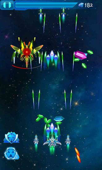 Screenshots von Galaxy fighters: Fighters war für Android-Tablet, Smartphone.