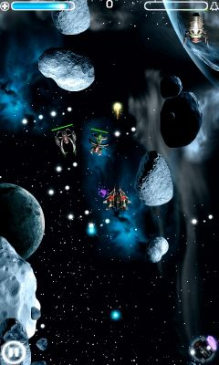 Screenshots of the Galaxy Shooter for Android tablet, phone.