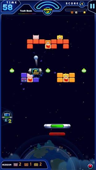 Геймплей Galaxy trio: Brick breaker для Android телефону.